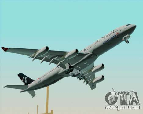 Airbus A340-311 Turkish Airlines (Star Alliance) for GTA San Andreas upper view