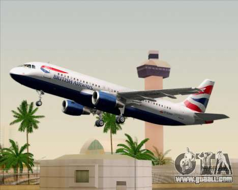 Airbus A320-232 British Airways for GTA San Andreas
