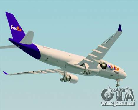Airbus A330-300P2F Federal Express for GTA San Andreas right view