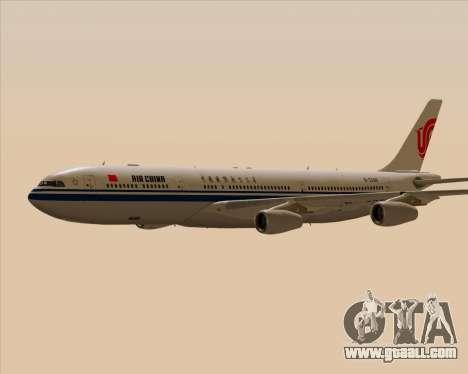 Airbus A340-313 Air China for GTA San Andreas upper view