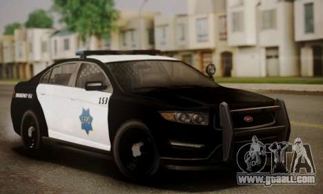 Vapid Police Interceptor from GTA V for GTA San Andreas bottom view