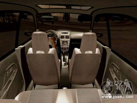 Subaru Impreza Wagon 2002 for GTA San Andreas inner view
