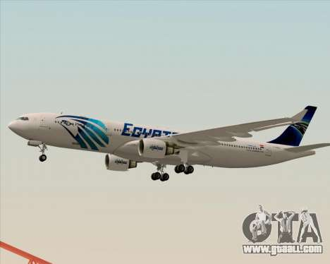 Airbus A330-300 EgyptAir for GTA San Andreas side view