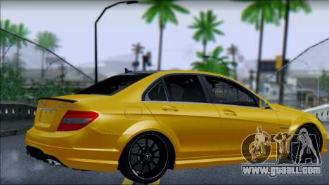Mercedes-Benz C63 AMG for GTA San Andreas left view
