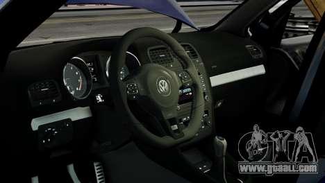 Volkswagen Golf R 2010 ABT Paintjob for GTA 4 inner view
