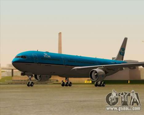 Airbus A330-300 KLM Royal Dutch Airlines for GTA San Andreas right view