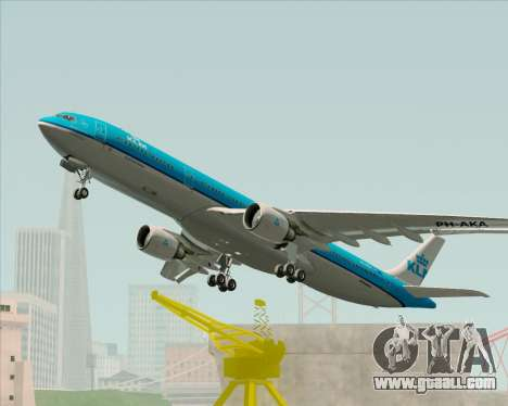 Airbus A330-300 KLM Royal Dutch Airlines for GTA San Andreas side view