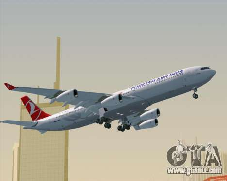 Airbus A340-313 Turkish Airlines for GTA San Andreas upper view