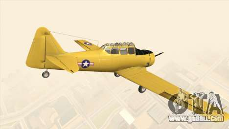 North American T-6 TEXAN for GTA San Andreas left view