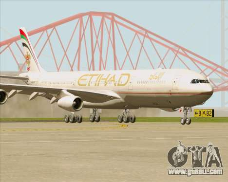 Airbus A340-313 Etihad Airways for GTA San Andreas left view