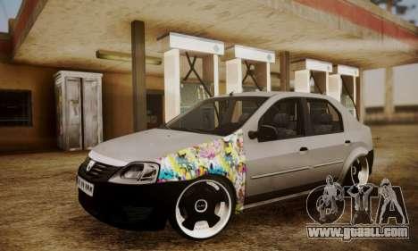 Dacia Logan Sedan Tuned for GTA San Andreas