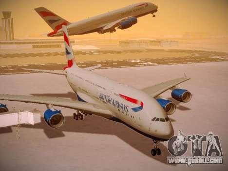 Airbus A380-800 British Airways for GTA San Andreas bottom view