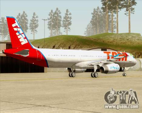 Airbus A321-200 TAM Airlines for GTA San Andreas right view