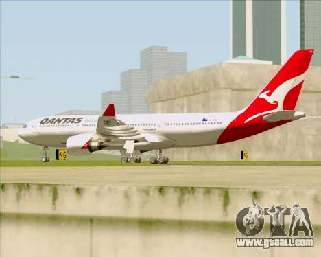 Airbus A330-200 Qantas for GTA San Andreas right view