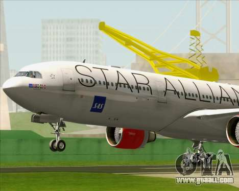 Airbus A330-300 SAS (Star Alliance Livery) for GTA San Andreas inner view