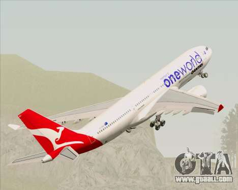 Airbus A330-200 Qantas Oneworld Livery for GTA San Andreas wheels