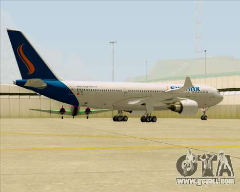 Airbus A330-200 Syphax Airlines for GTA San Andreas back view