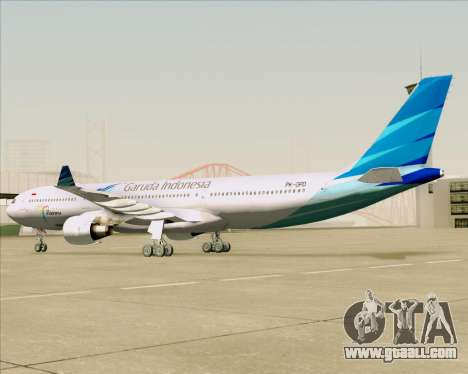 Airbus A330-300 Garuda Indonesia for GTA San Andreas back view