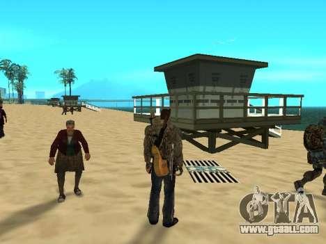New rugs on the beach for GTA San Andreas third screenshot