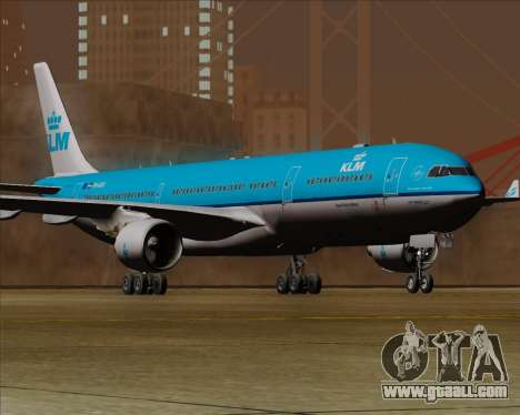 Airbus A330-300 KLM Royal Dutch Airlines for GTA San Andreas back left view