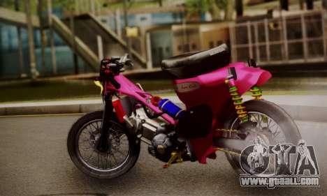 Super Cub Drag for GTA San Andreas left view
