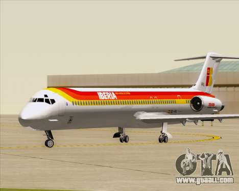 McDonnell Douglas MD-82 Iberia for GTA San Andreas left view