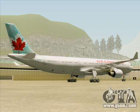 Airbus A330-300 Air Canada for GTA San Andreas inner view