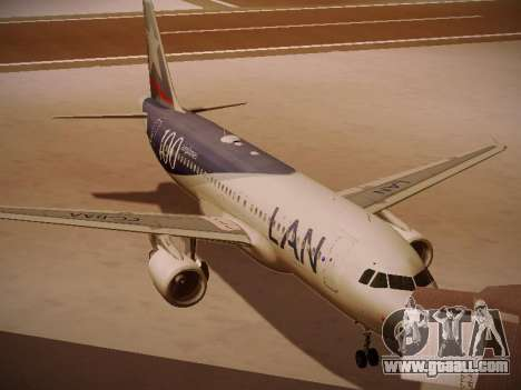 Airbus A320-214 LAN Airlines 100th Plane for GTA San Andreas left view