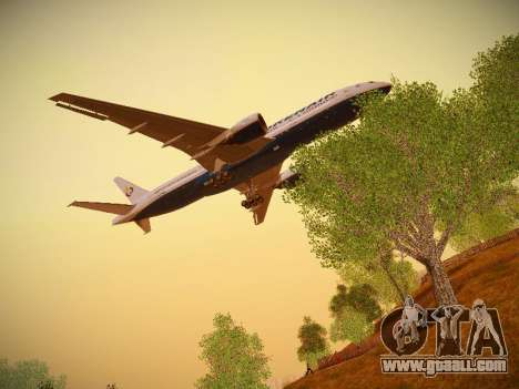 Boeing 777-2Q8ER Orenair Airlines for GTA San Andreas side view