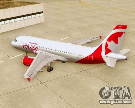 Airbus A319 Air Canada Rouge for GTA San Andreas engine