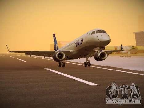 Embraer E190 TRIP Linhas Aereas Brasileira for GTA San Andreas