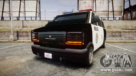 Declasse Burrito Police Transporter LED [ELS] for GTA 4