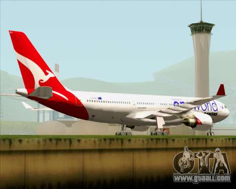 Airbus A330-200 Qantas Oneworld Livery for GTA San Andreas upper view