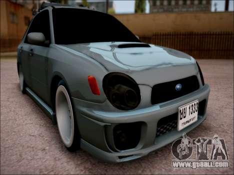 Subaru Impreza Wagon 2002 for GTA San Andreas
