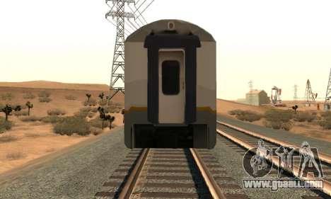 K1 Argo Traincar Indonesian for GTA San Andreas right view