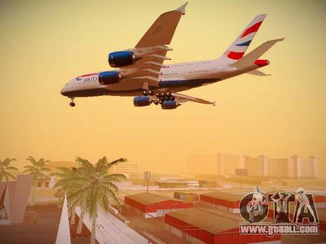 Airbus A380-800 British Airways for GTA San Andreas engine