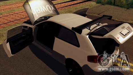 Audi S3 Tuned 2007 for GTA San Andreas back view