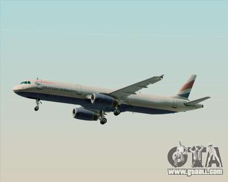 Airbus A321-200 British Airways for GTA San Andreas engine