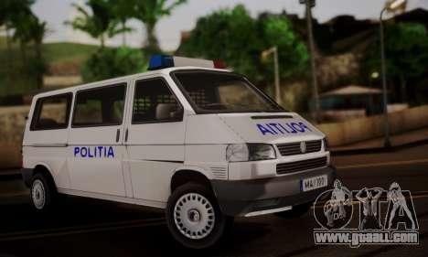 Volkswagen Caravelle Politia for GTA San Andreas
