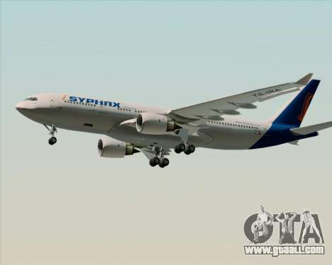 Airbus A330-200 Syphax Airlines for GTA San Andreas interior
