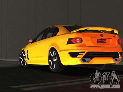 Holden HSV GTS 2011 for GTA Vice City bottom view
