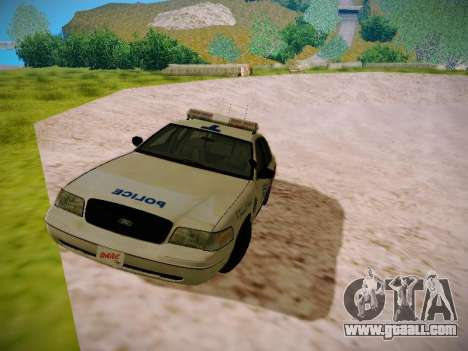 Ford Crown Victoria Toronto Police Service for GTA San Andreas left view