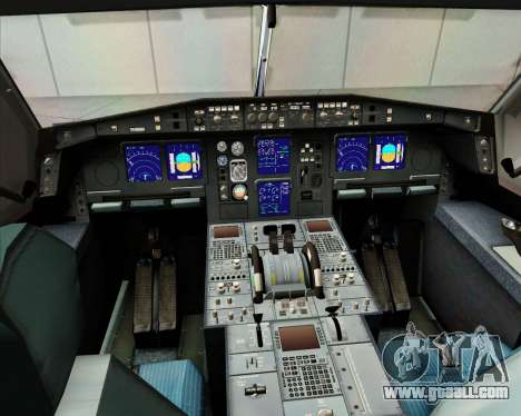 Airbus A340-313 Etihad Airways for GTA San Andreas bottom view
