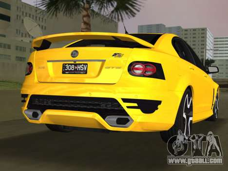 Holden HSV GTS 2011 for GTA Vice City left view