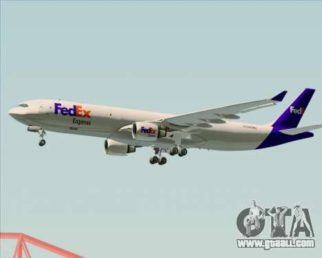 Airbus A330-300P2F Federal Express for GTA San Andreas back left view
