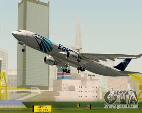 Airbus A330-300 EgyptAir for GTA San Andreas wheels