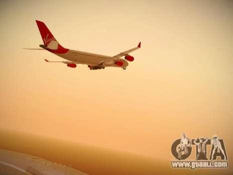 Airbus A340-300 Virgin Atlantic for GTA San Andreas inner view