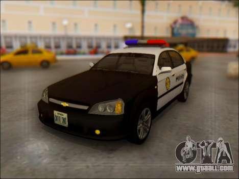 Chevrolet Evanda Police for GTA San Andreas