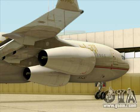 Airbus A340-313 Etihad Airways for GTA San Andreas side view