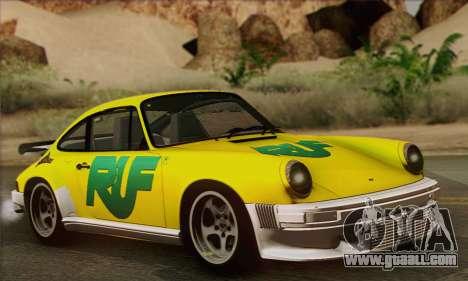 RUF CTR Yellowbird 1987 for GTA San Andreas interior